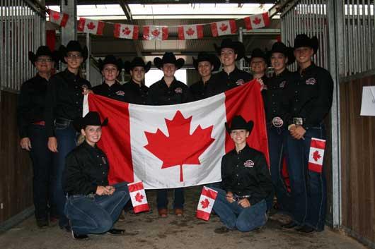 Canada's AQHYA World Cup team members.