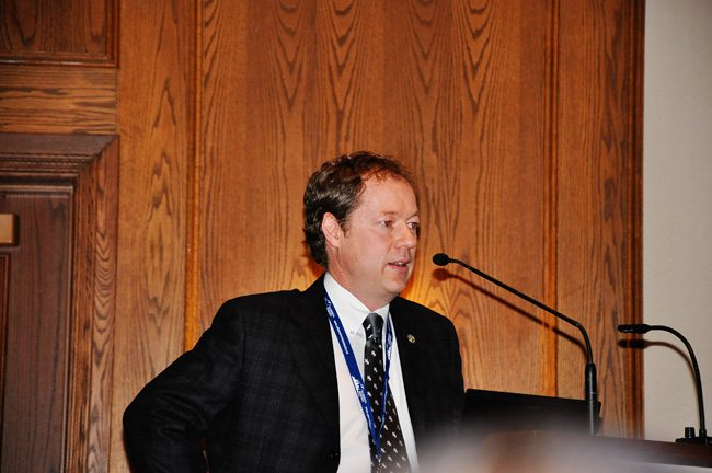 Dr. Mike Scott spoke about the management of osteoarthritis in horses.