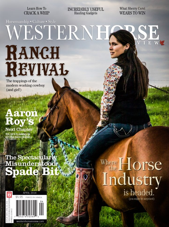 On the cover: Real life horse person Chelsea Cunningham illustrates the fashion of the working cowgirl.