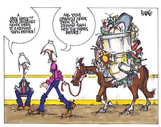 Cartoon by Dave Elston.