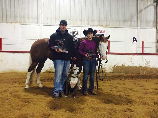 Winner of the NRHA Non Pro and Novice Horse Non Pro – Holly Kowblick