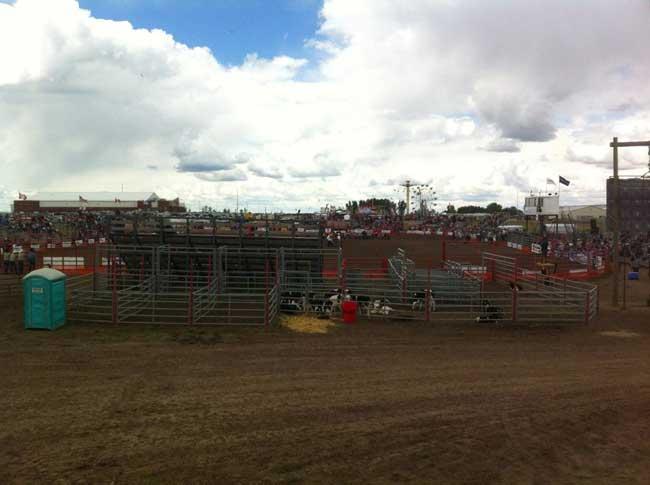 The Brooks Kinsmen Pro Rodeo Grounds.