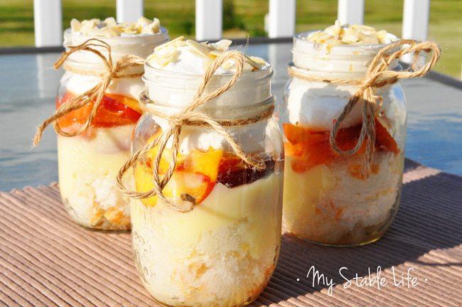 Peach schnapps dessert