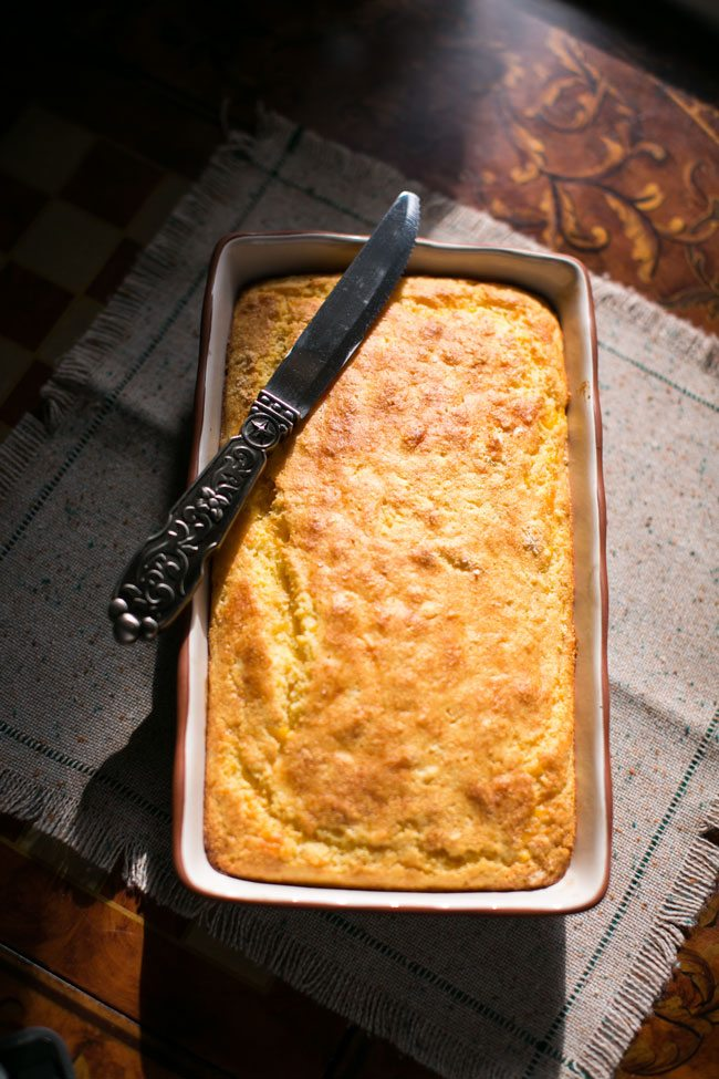 Cornbread and an oregano-based dressing lend to the complex flavors of the macho salad.